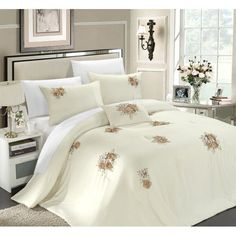 Where you should buy Rosetta 5 Piece Comforter Set Size: Queen Color: Beige cheap price and shipping to your house. The Rosetta 5 Piece Comforter Set Size: Queen Color: Beige is quality product and we are definitely recommend it Floral Comforter, Ruffle Bedding, Beige Comforter, Queen Comforter Sets, Bedding Sets, King Comforter, Dorm Bedding, Mustard Bedding, Window Bed