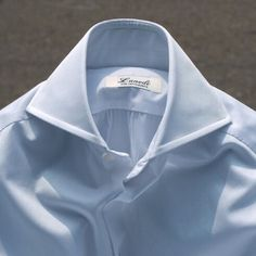 lunedi - shirtsmaker.......lovely High Collar Shirts, Shirt Collar Styles, French Cuff Shirt Men, Style Costume Homme, Bespoke Shirts, Ivy Style, Casual Wear For Men, Mens Fashion Suits, Well Dressed Men