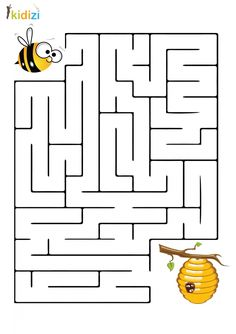 Word Puzzles For Kids, Mazes For Kids Printable, Fun Worksheets For Kids, Alphabet For Kids, Math For Kids, Preschool Worksheets, Bee Crafts For Kids, Toddler Learning Activities, Preschool Learning Activities
