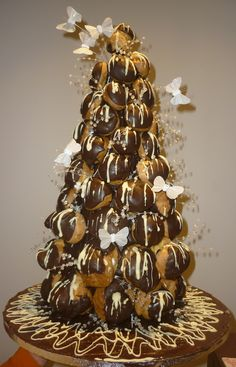 Choux tower....Delightful morsels mmmm see this is what happens when I watch baking shows.... Watch out Christmas- I'm going to make this.