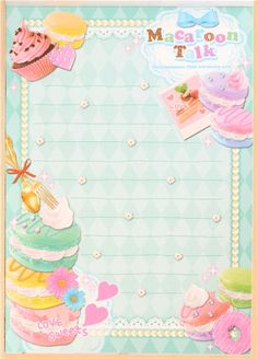 macaron cupcake heart memo pad by Q-Lia from Japan 5