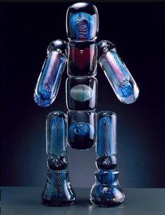 Glass man sculpture buy artist and jewelry designer Bjorn Weckstrom.