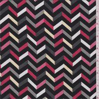 Black Chevron Jersey Knit