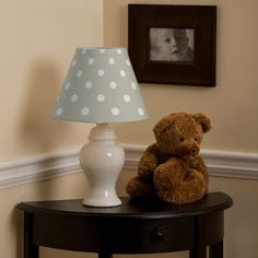 Taupe and White Polka Dot Lamp Shade | Carousel Designs