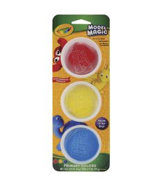 "Crayola Model Magic 2.25"" Ounces 3/Pkg-Primary"