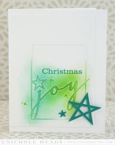 Christmas Joy Card by Nichole Heady for Papertrey Ink (September 2014)