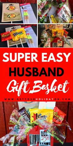 super easy Fisherman Gift Basket! The perfect hubby gift basket #mengifts #diy #diygiftbasket #giftbasket Valentines Day Baskets, Valentine Gifts For Husband, Gifts For Hubby, Diy Gifts For Men, Cheap Gifts, Valentines Diy, Gift Baskets For Men, Fisherman Gifts, Husband Birthday