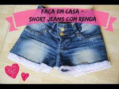 DIY: Short Jeans com Renda