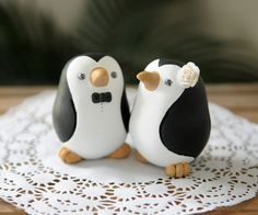 Penguin Wedding Cake Toppers