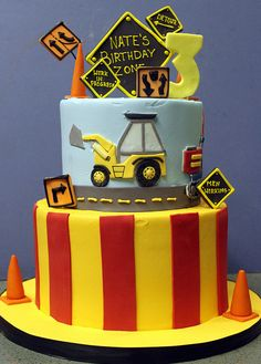 Roadwork Ahead Birthday Cake