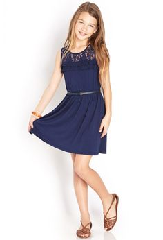 Lovely Lace Ruffled Dress (Kids) | FOREVER21 girls - 2000088186 - 15.80