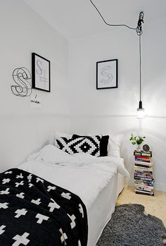 La maison d'Anna G.: Noir  blanc, black and white kids room