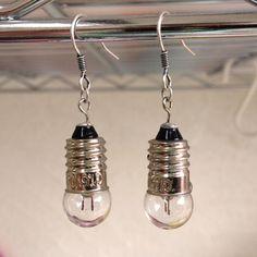 Tiny light-bulb earrings
