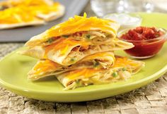 Quick & Easy Creamy Chicken Quesadillas