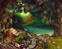 Éveil Pagan printemps forêt déesse Art 8 x 10 par EmilyBalivet