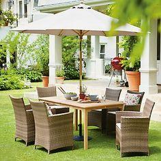 samara rattan effect 6 seater garden furniture set home delivery