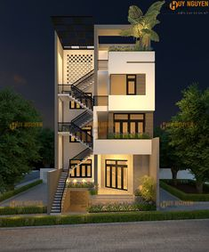 House Outer Design, House Outside Design, House Front Design, Small House Design, 3 Storey House Design, Duplex House Design, Modern House Facades, Modern Exterior House Designs, Narrow House Designs