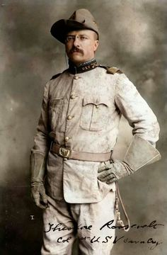 Theodore Roosevelt in his Rough Riders uniform  (credit:  Colorizedhistory on Facebook)