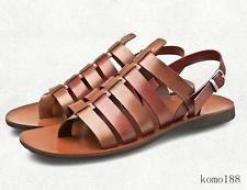Men's Roma Fivela De Cinta De Gladiador Sandálias Chinelo chinelos sapatos De Praia De Couro