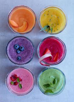 ideas de smoothies para ofrecerle a los invitados!