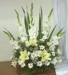 Modern Floral Arrangements, Church Flower Arrangements, Funeral Arrangements, Church Flowers, Beautiful Flower Arrangements, Funeral Flowers, Beautiful Flowers, Wedding Flowers, Funeral Sprays