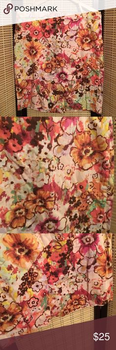 J. Crew floral print skirt size 14 Great floral print in pastels. Great j. Crew piece. J. Crew Skirts