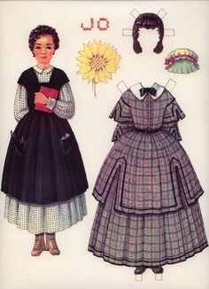 Jo - Little Woman.  I never had a Little Women paper doll set, but I remember loving the book and all the characters in it.  I reminded my sisters of Amy because I was always drawing.  Molleen identified with Jo, as like Jo, she was a writer.  Janet Marie seemed like Meg because she was the eldest.