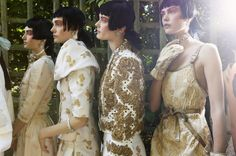 Backstage at Chanel Resort 2013 at the Palace of Versailles, France. Chanel Resort, Chanel Cruise, Look Fashion, Daily Fashion, Luxury Fashion, Fashion Show, French Fashion, High Fashion, Versailles
