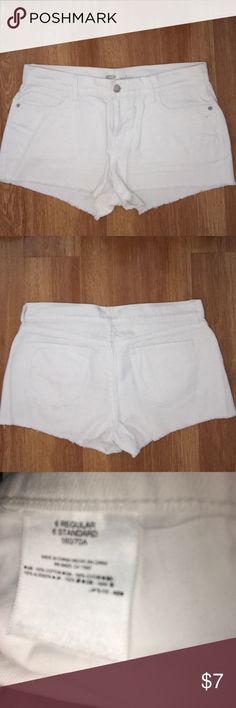 Old Navy White Cutoff Jean Shorts Old Navy White cutoff jean short shorts. New without tags. Barely noticeable stain below back pocket as shown in picture above. Old Navy Shorts Jean Shorts