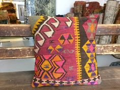 Wool Pillow Covers Boho Throw Pillows Decorative Bohemian Turkish Raspberry Red Yellow Geometric Rug Aztec Kilim Pillow Cover by CarpethomeArt on Etsy Boho Throw Pillows, Wool Pillows, Geometric Pillow, Aztec, Decorative Pillows, Raspberry, Pillow Covers, Bohemian, Yellow
