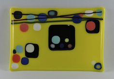 Fused Glass Funky Plate by LGTCreations on Etsy