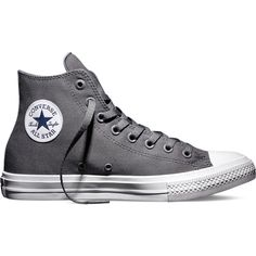 Converse Chuck Taylor All Star II – thunder/white/navy Sneakers ($75) ❤ liked on Polyvore featuring shoes, sneakers, grey, star shoes, navy shoes, white shoes, navy blue shoes and converse footwear
