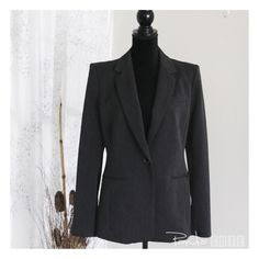Black blazer by Express NWT For the quality and brand new blazer for only a fraction of the retail cost. Measurement all taken flat , chest 18, waist 17, bottom hem 22, back shoulder 17, back length to bottom 27, sleeves 25.5, front length to bottom 28. Express Jackets & Coats Blazers