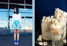 Nicole Warne at Gary Pepper and Caramel Popcorn Ice Cream + Cashews at Hungry Girl Por Vida Popcorn Ice Cream, Gary Pepper, Nicole Warne, Caramel, Stuffed Peppers, Food, Style, Fashion, Sticky Toffee