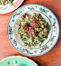 Lamb Meatballs and Cauliflower Tabbouleh