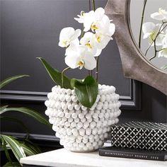 Tozai Pompom Decorative Vase - Set Of 2