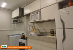 Apartamento decorado 2 quartos do Parque Florença no bairro Santa Mônica II - Feira de Santana - BA - MRV Engenharia - Cozinha