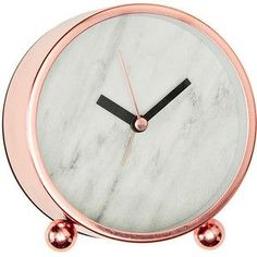 Lisa T Marble Effect Desk Clock Target Australia
