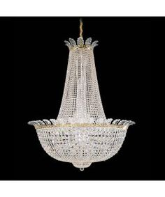 Schonbek 3722-44S Roman Empire 44 Light Ceiling Pendant in Heirloom Silver with Swarovski Strass Clear crystal $24,211.00