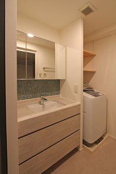 LAVATORY/POWDER ROOM/TOILET/TILE/洗面室/トイレ/洗面台/洗面器/タイル/フィールドガレージ/FieldGarage INC./リノベーション