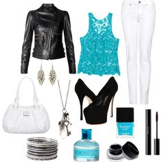 Leather Crochet, created by nataliesch on Polyvore