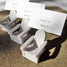 Coral Place Card Holders
