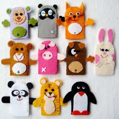 Image detail for -Felt Finger Puppets Party Favors | Modern Party Ideas