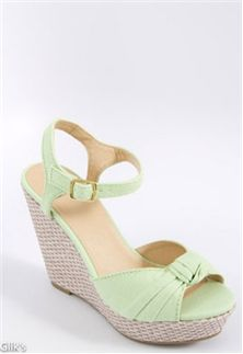 33ed4e012378 Delicious Sue –S Knotted Platform Wedge Preppy Clothing Brands