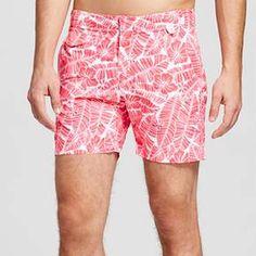 Men's Swim Trunks Floral Print Red - IBIZA : Target