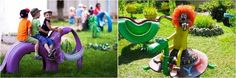 Tire recycling ideas - 23 animal-shaped garden decorations