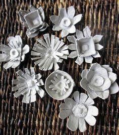 egg carton flowers by janelafazio.com