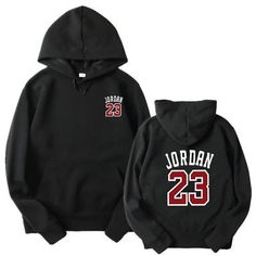 a5444cfbc 2017 new women/men's casual players Jordan 23 Front and back printingprint  hedging hooded fleece sweatshirt hoodies pullover