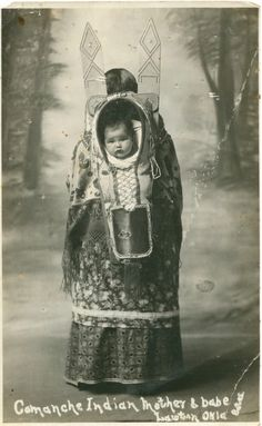 Comanche Mother and Baby, no date or location or their names...