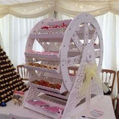 Big Kids Candy Buffet - Candy Cart/Ferris Wheel etc Candy Table, Candy Buffet, Adult Birthday Party, Girl Birthday, Birthday Ideas, Party Ideas For Teen Girls, Birthday Table Decorations, Garden Bridal Showers, Garden Shower